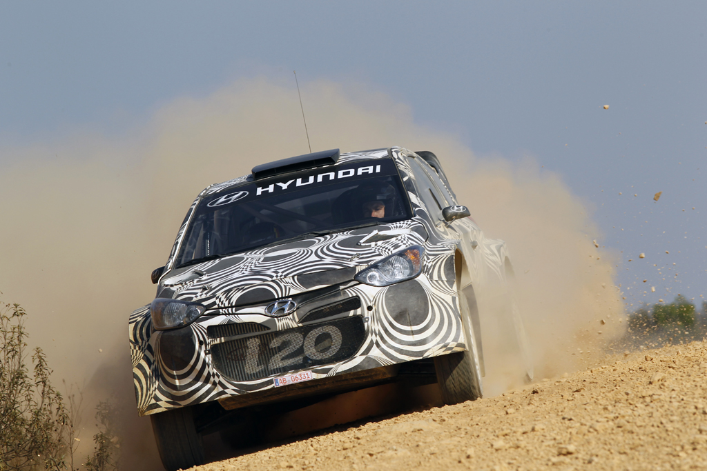 Hyundai i20 WRC Gravel Test Seville, Spain 8th-9th October 2013