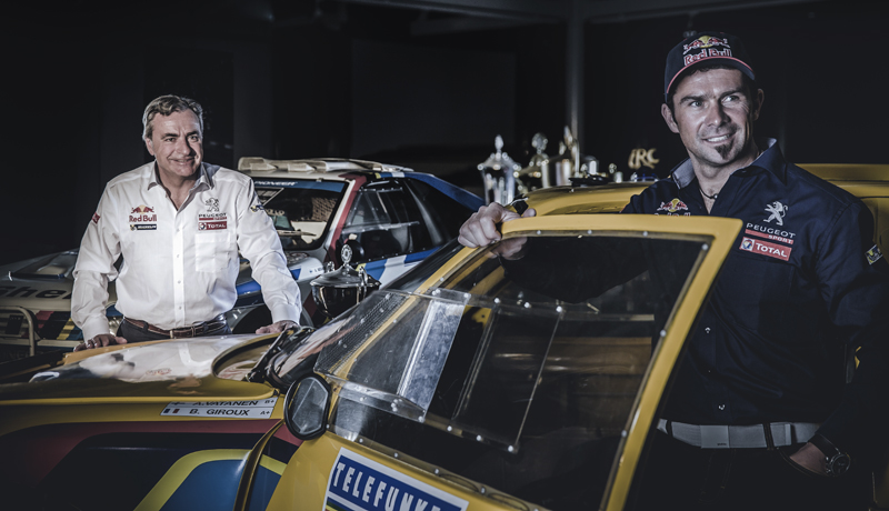 Carlos Sainz and Cyril Despres - Portrait